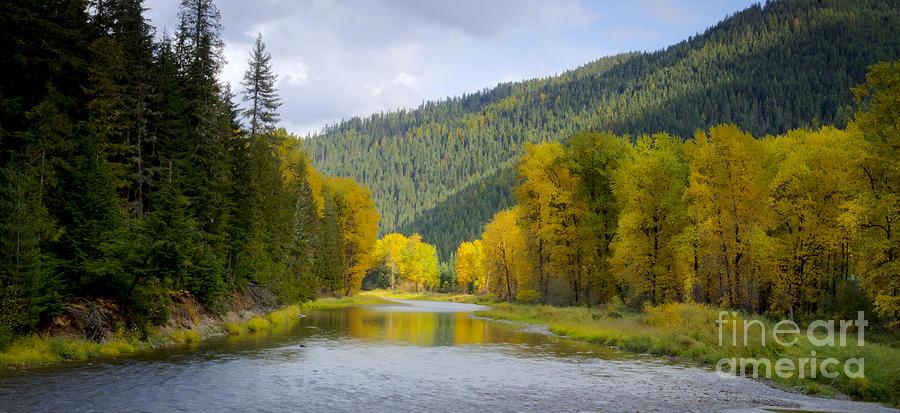 Idaho Photograph - Autumn On The River by Idaho Scenic Images Linda Lantzy