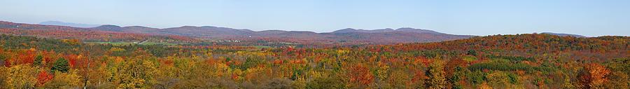 Autumn Colors Photograph - Autumn Panorama Brome Quebec Canada by David Chapman