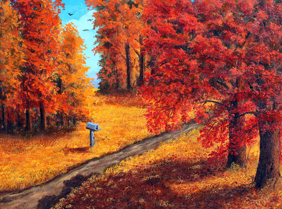 Autumn Painting - Autumn Paths by Lorraine Foster