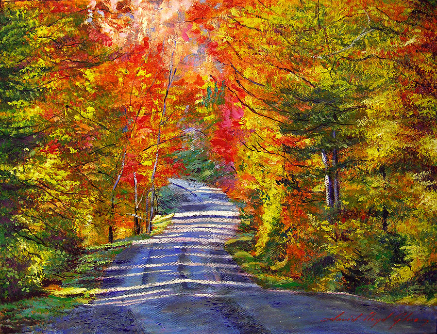 Autumn Roads Painting By David Lloyd Glover