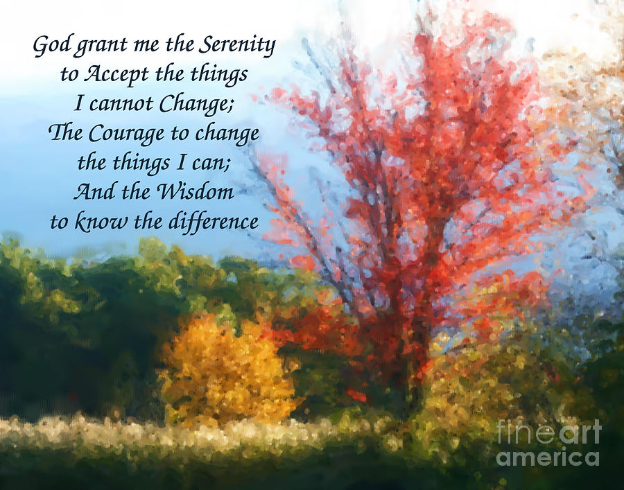 Autumn Serenity Prayer Painting By Smilin Eyes Treasures