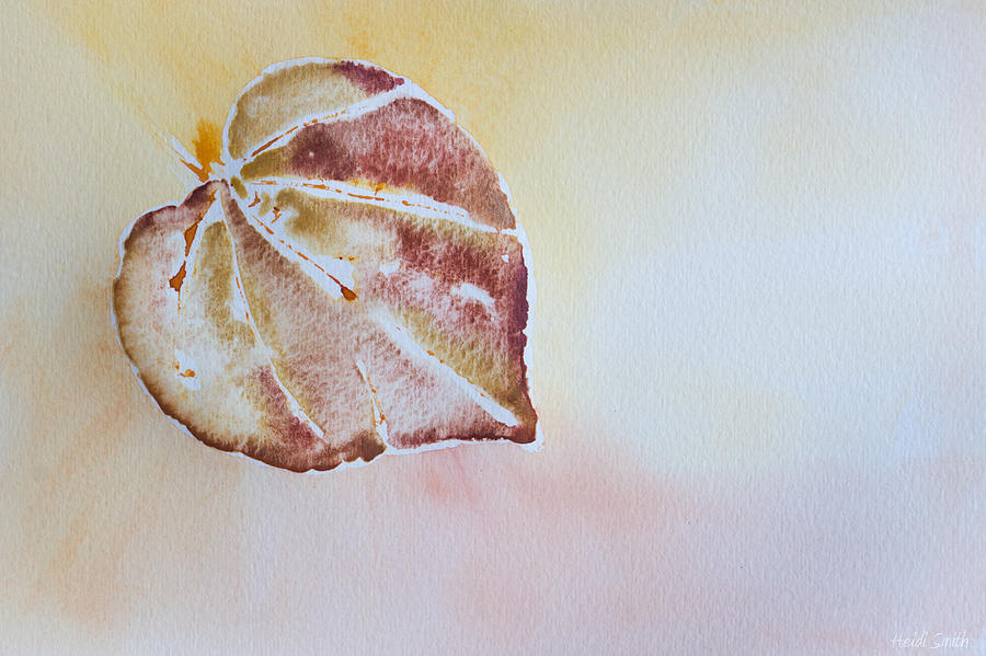 Watercolor Painting - Autumn Shimmer by Heidi Smith