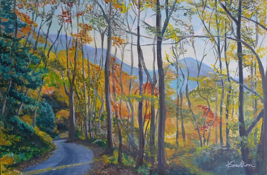 Landscapes Painting - Autumn Smokies by Veronica Coulston