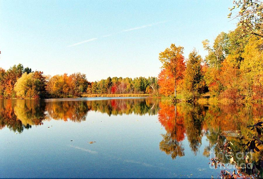 Lake Photograph - Autumn Splendor by Crissy Sherman