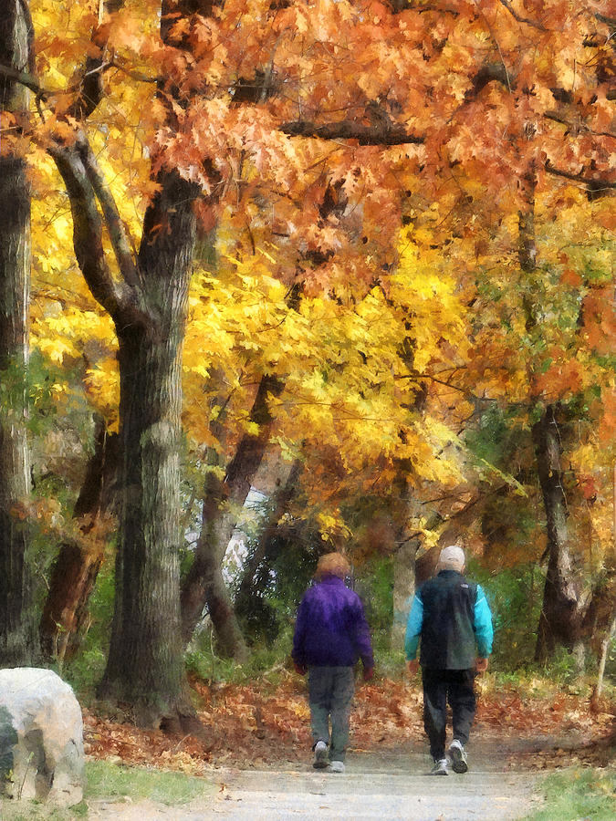 Couple Photograph - Autumn Stroll by Susan Savad