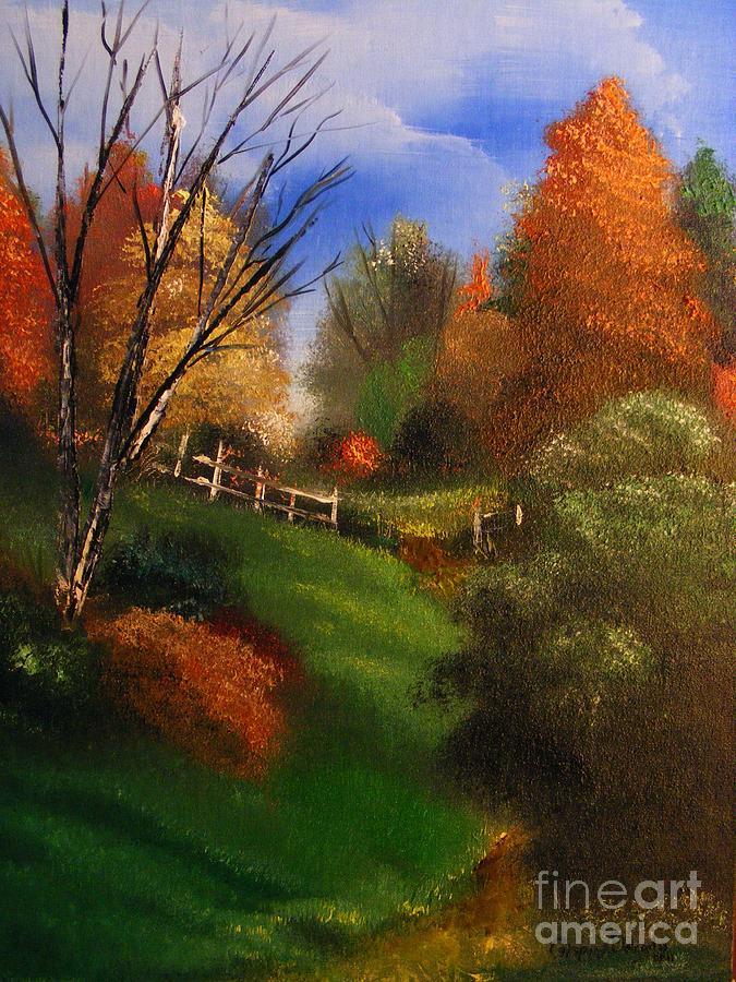 Fall Painting - Autumn Trail  by Crispin  Delgado