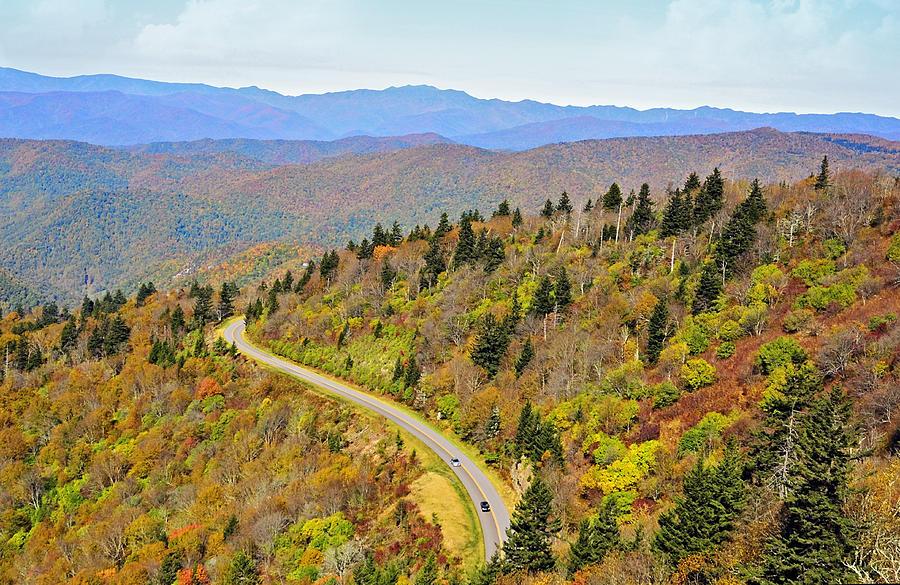 Road Photograph - Autumn Travel by Susan Leggett