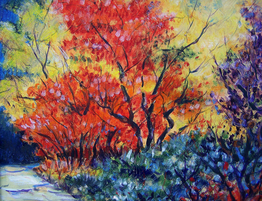 Oil Painting Painting - Autumnal Colors by Jon Shepodd