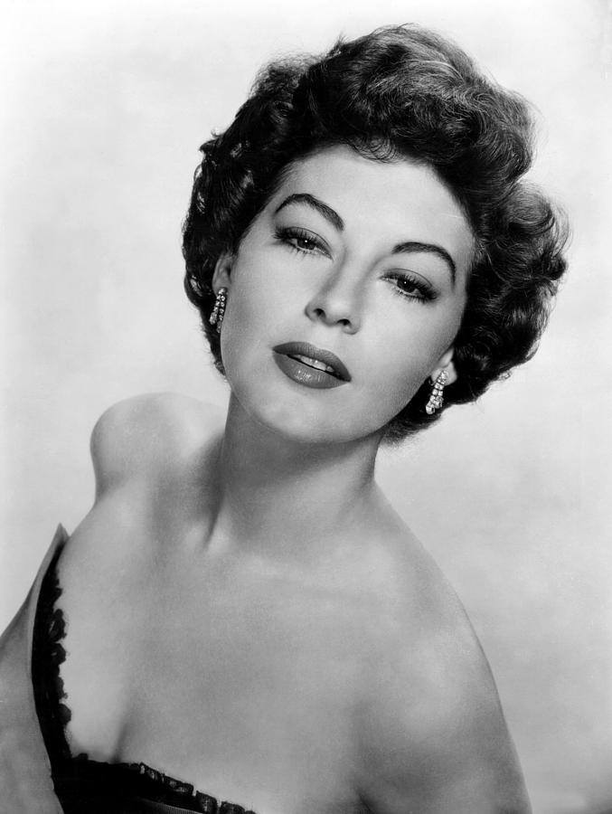 Diamond Earrings Photograph - Ava Gardner, Ca. 1950s by Everett