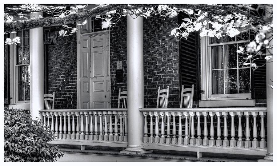 National Register Photograph - Avenel Porch - Bedford - Virginia by Steve Hurt