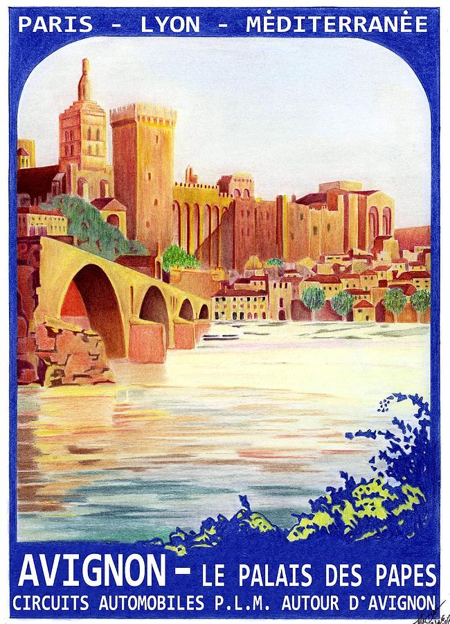 Avignon France Mixed Media - Avignon Deco by Lyle Brown