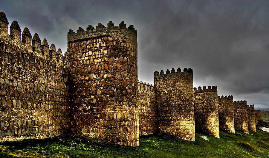 Avila - Town Walls by Juergen Weiss