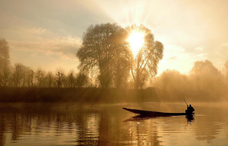 Horizontal Photograph - Awakening   (kashmir,india) by PKG Photography