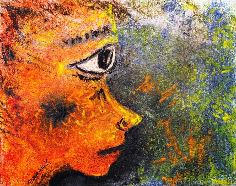 Abstract Painting - Awe by Mayank Gupta