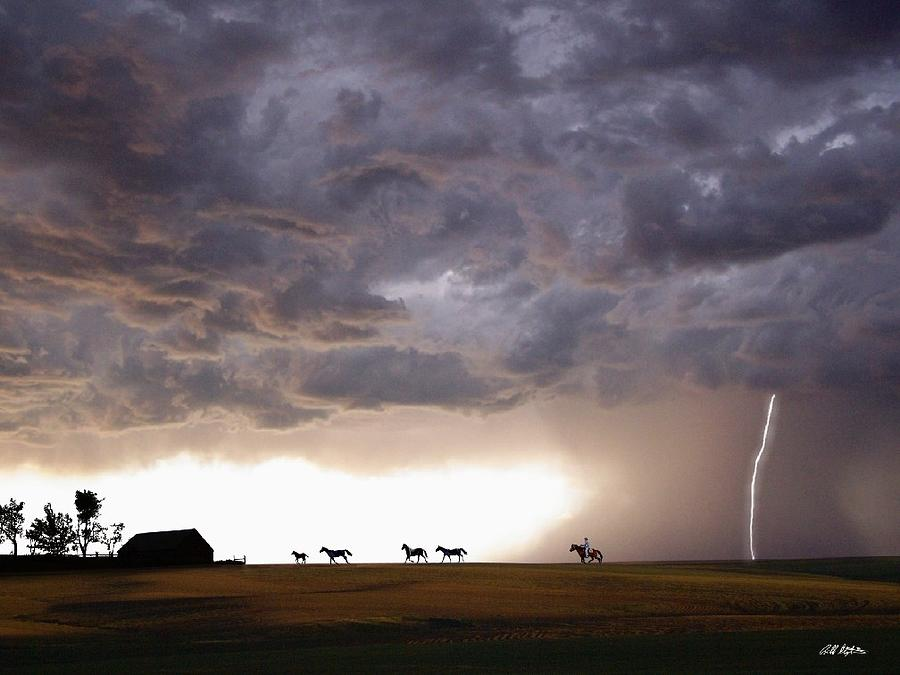 Storms Digital Art - Awesome Storm by Bill Stephens