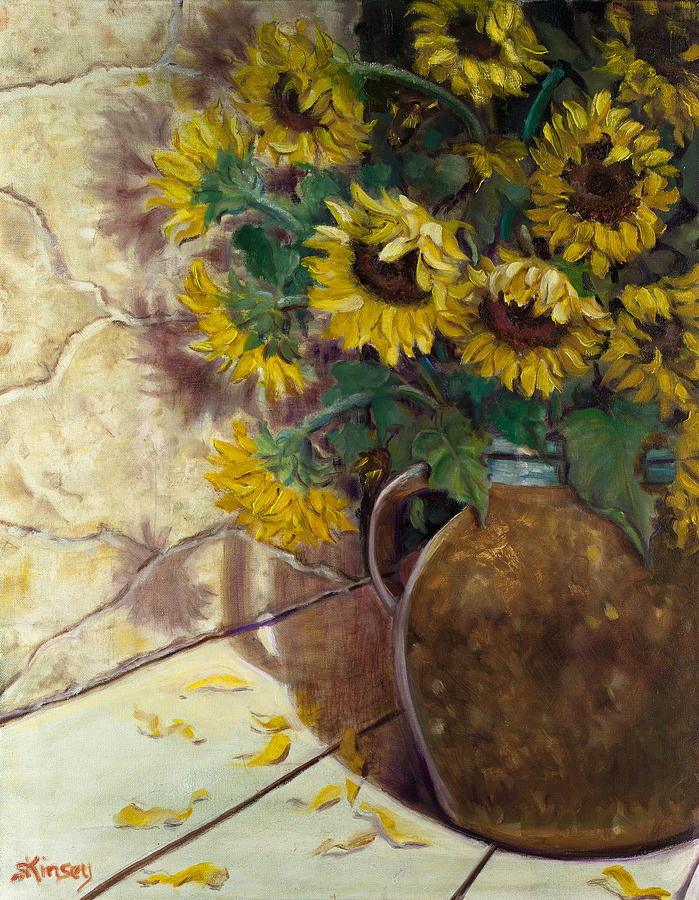Sunflower Painting - Ayesha And Brians Bouquet by Sheila Kinsey