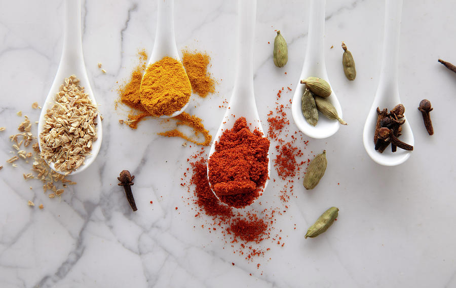Horizontal Photograph - Ayurvedic Warming Spices by Shana Novak