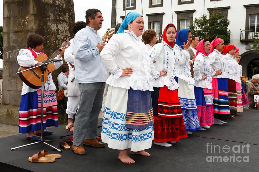 Folk Photograph - Azorean Folk Music Group by Gaspar Avila