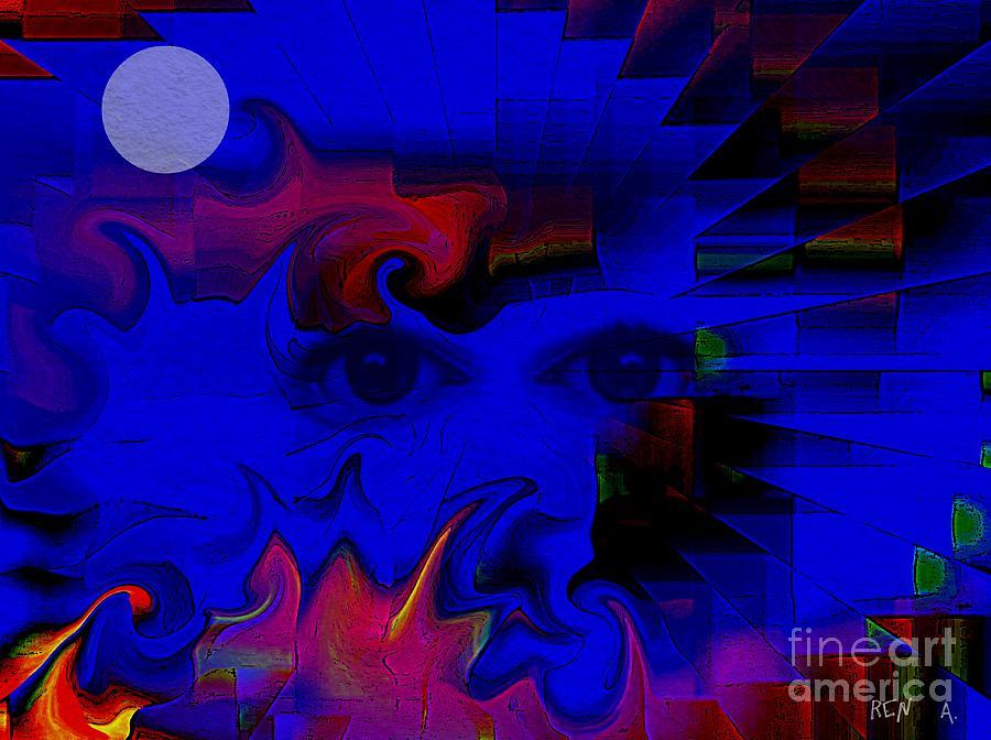 Woman Digital Art - Aztec Woman Of The Moon by Rene Avalos