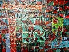 Abstract Painting - Azteca by Bernard Goodman