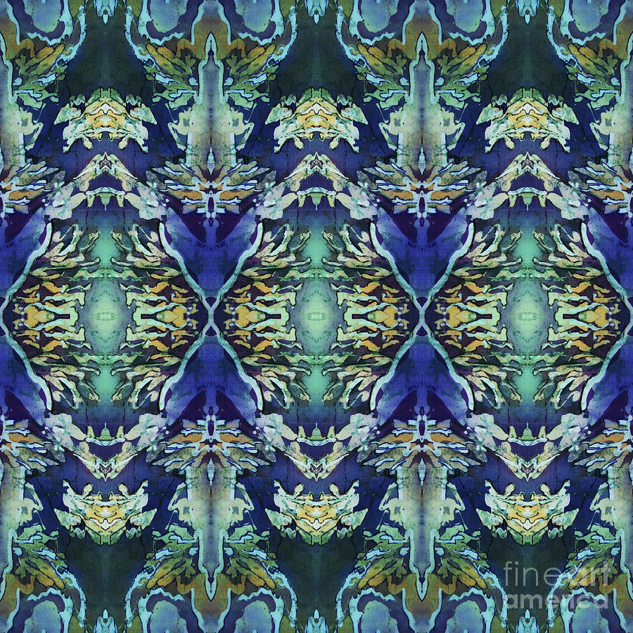 Blue Painting - Azuraz Candle Tiled by Sue Duda