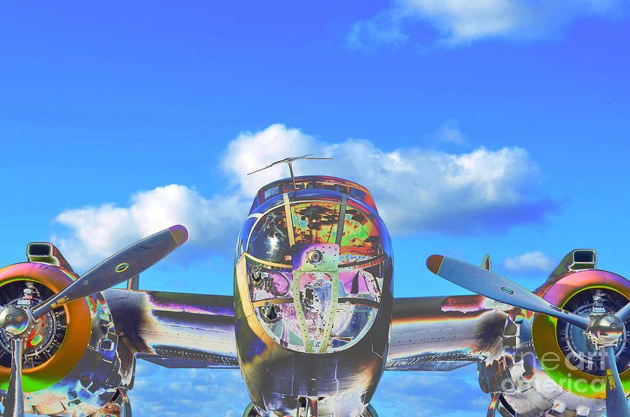 Aircraft Photograph - B-25j Jazzed by Lynda Dawson-Youngclaus