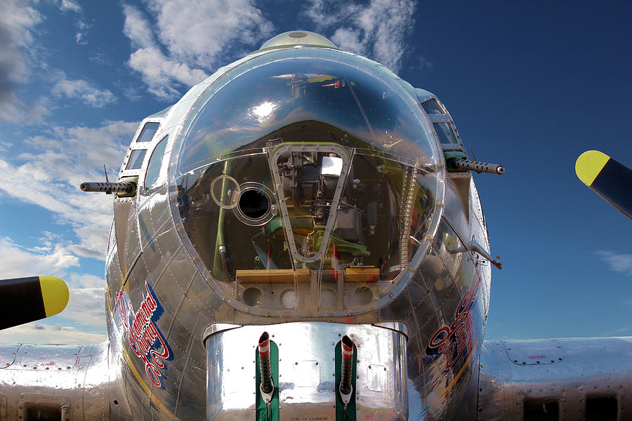 Aeroplane Photograph - B17 Flying Fortress by Paul Fell