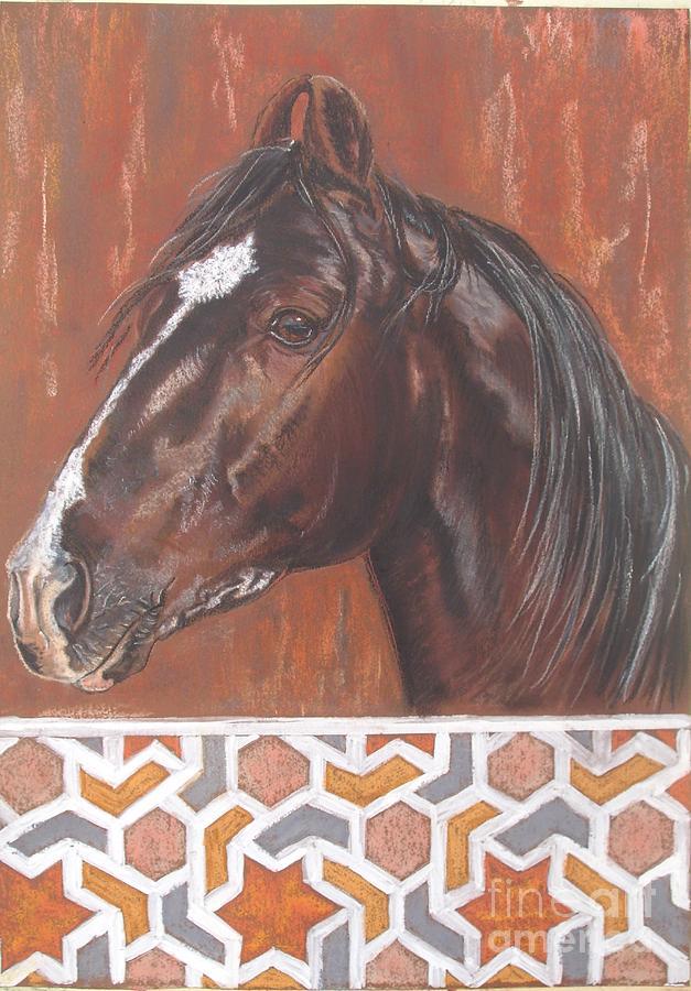 Horse Pastel - Babar by Zorka Velickovic