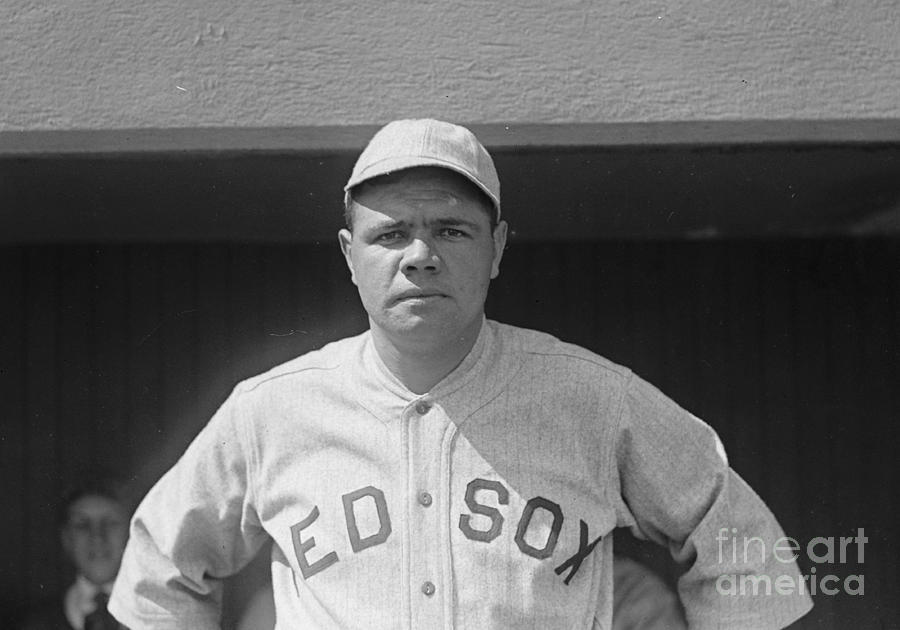 Baseball Players Photograph - Babe Ruth 1919 by Padre Art