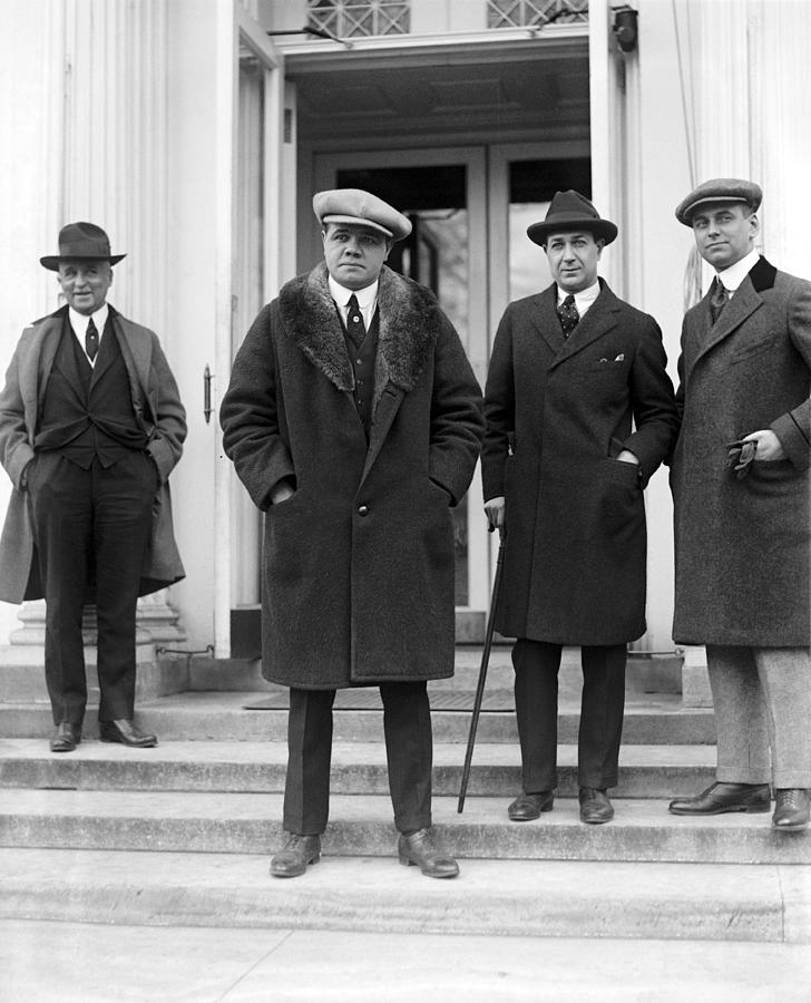 Babe Ruth At The White House, 1921 Photograph by Everett White House 1920s