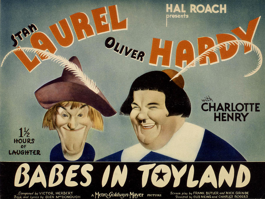 1930s Movies Photograph - Babes In Toyland,from Left, Stan by Everett