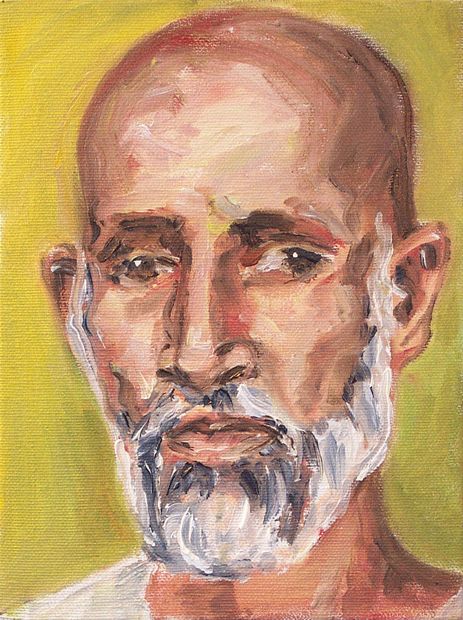 Portrait Painting - Babji by Sophie Brunet