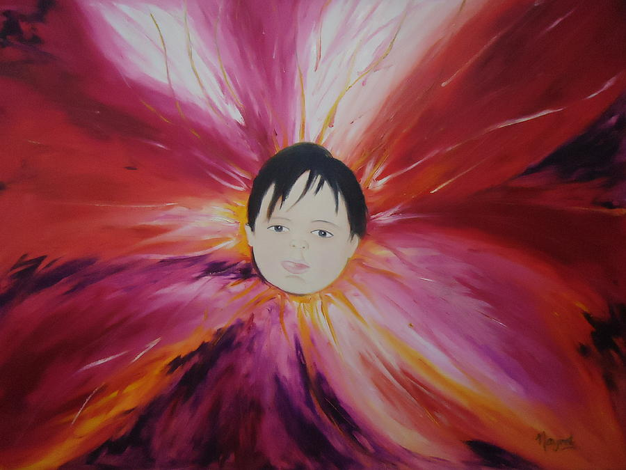 Baby Flower Painting - Baby Bloom by Navjeet Gill