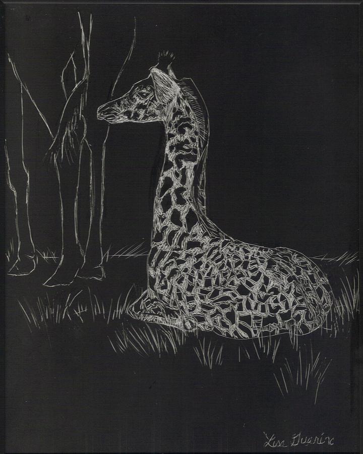 Giraffe Mixed Media - Baby Giraffe by Lisa Guarino