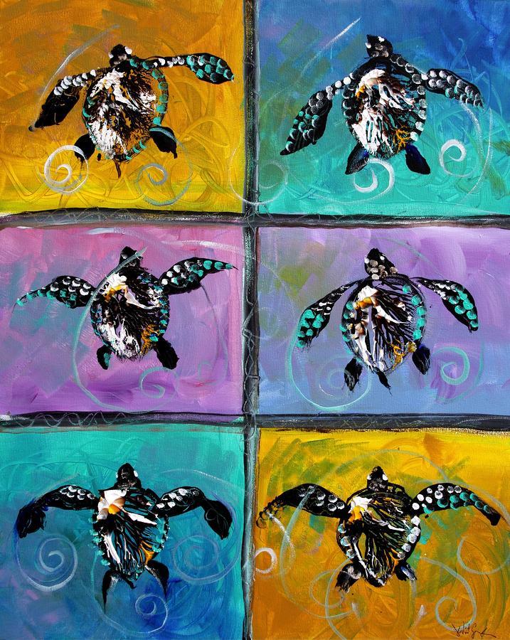 Baby Sea Turtles Six Painting