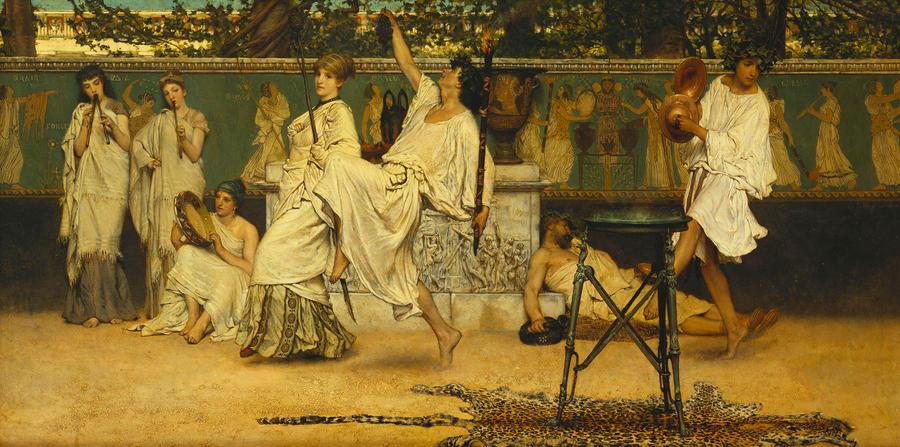 Bacchanal Painting - Bacchanal by Sir Lawrence Alma-Tadema