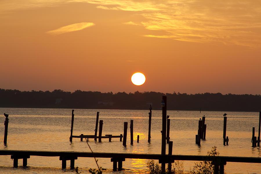 Bay Photograph - Back Bay Biloxi Sunrise by Diane Carlisle