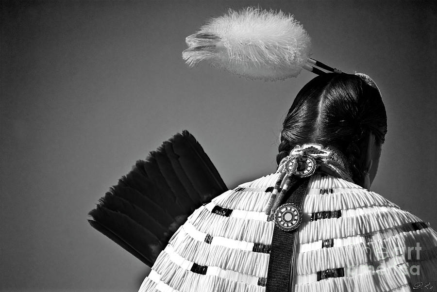 Indian Photograph - Back Feather by Diego Re