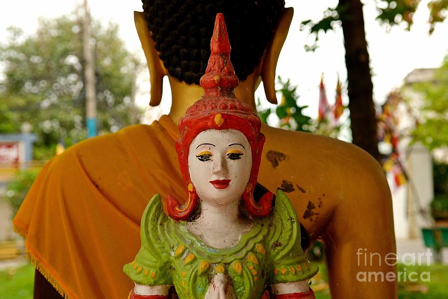 Buddha Photograph - Back To Back by Dean Harte