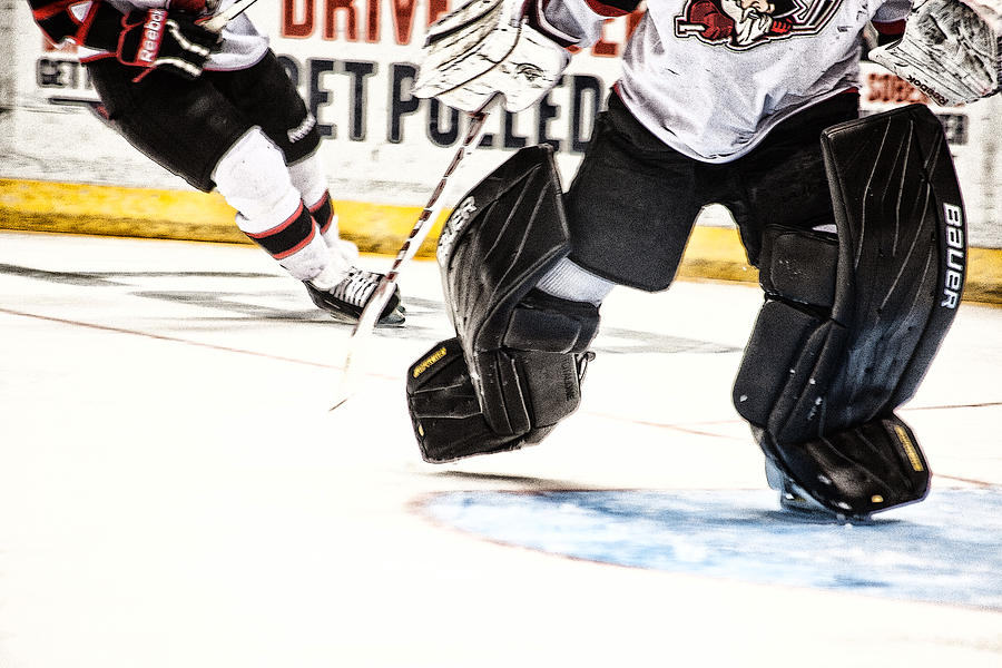 Ice Hockey Photograph - Back To The Crease by Karol Livote