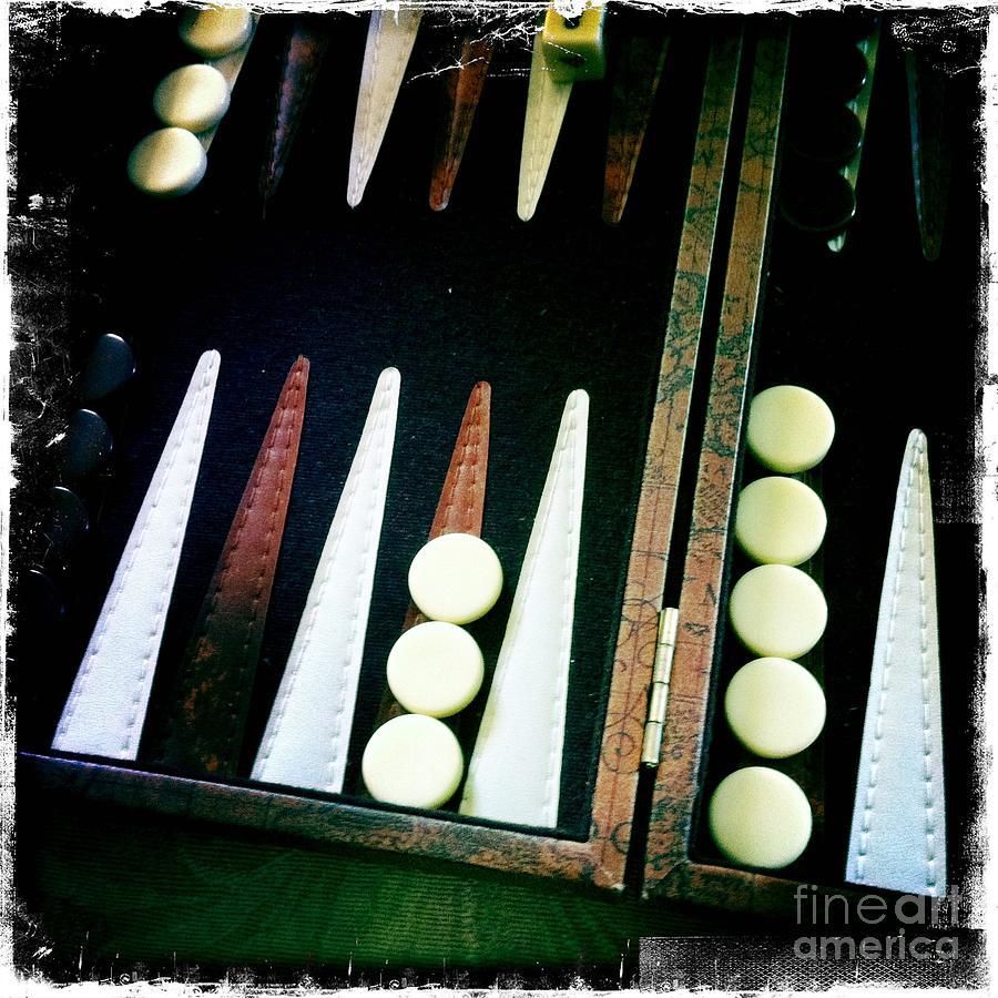 Backgammon Photograph - Backgammon Anyone by Nina Prommer