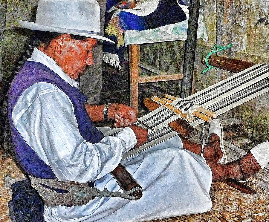 Julia Photograph - Backstrap Loom - Ecuador by Julia Springer