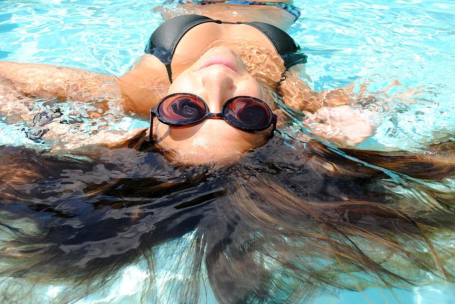 Pool Photograph - Backstroke II  by Leah Silberman