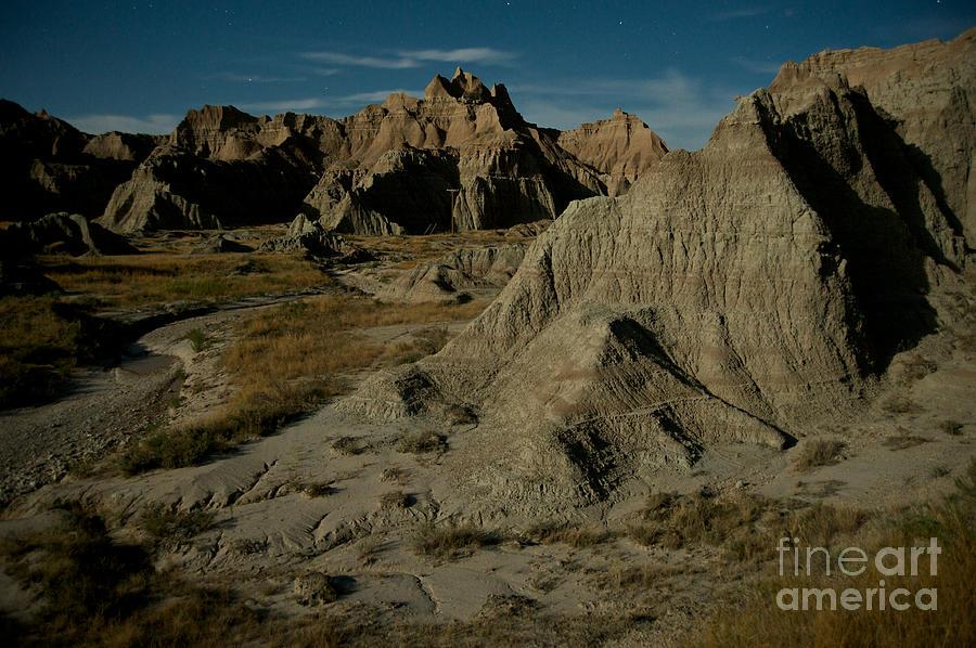 Badlands National Park Photograph - Badlands By Moonlight by Chris Brewington Photography LLC