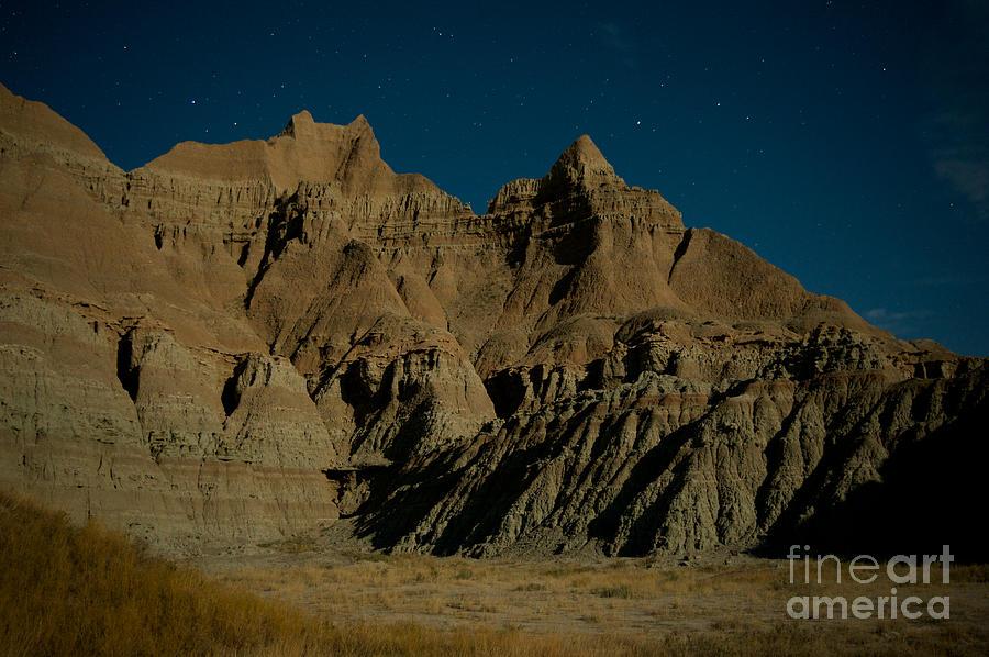 Badlands National Park Photograph - Badlands Moonlight by Chris Brewington Photography LLC