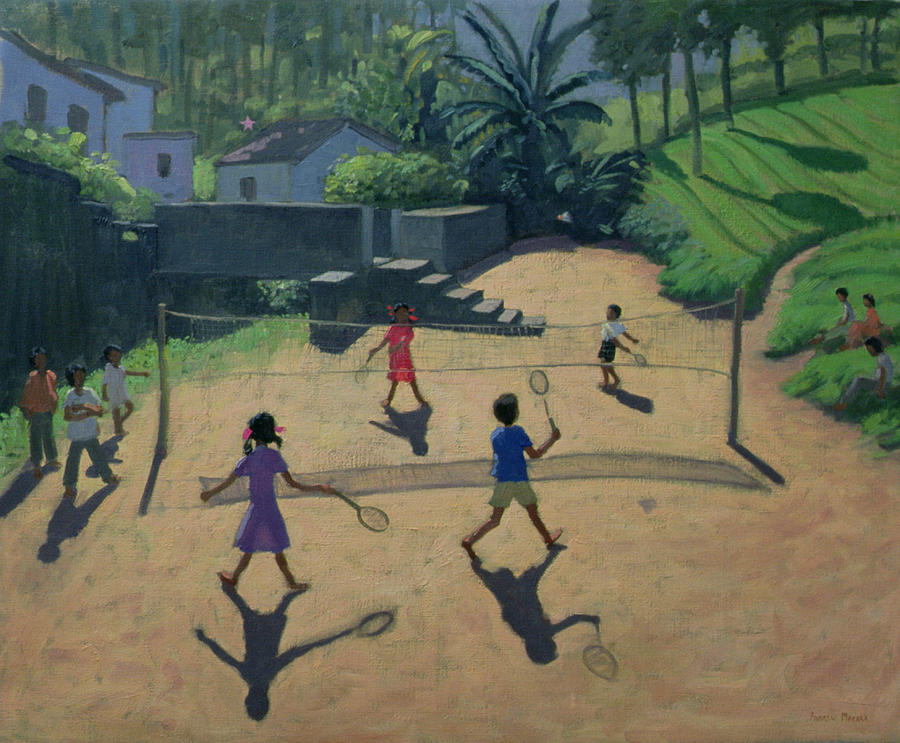 Net Painting - Badminton by Andrew Macara
