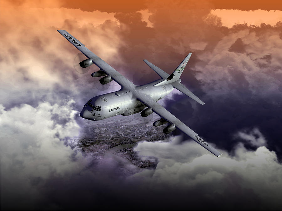 Aviation Digital Art - Baghdad Express 01 by Mike Ray