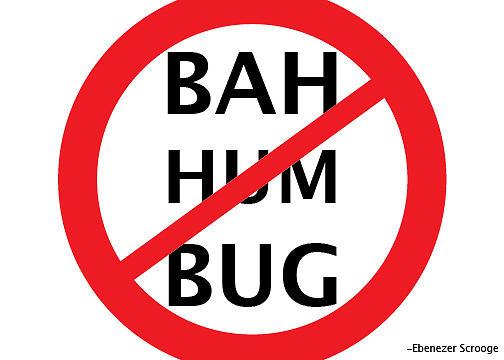 Christmas Digital Art - Bah Hum Bug by Katie Hester