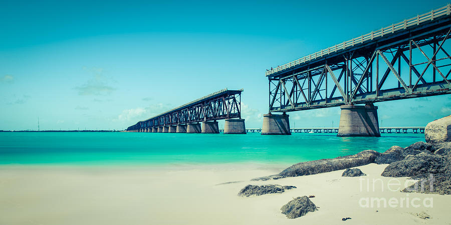 Atlantic Photograph - Bahia Hondas Railroad Bridge  by Hannes Cmarits