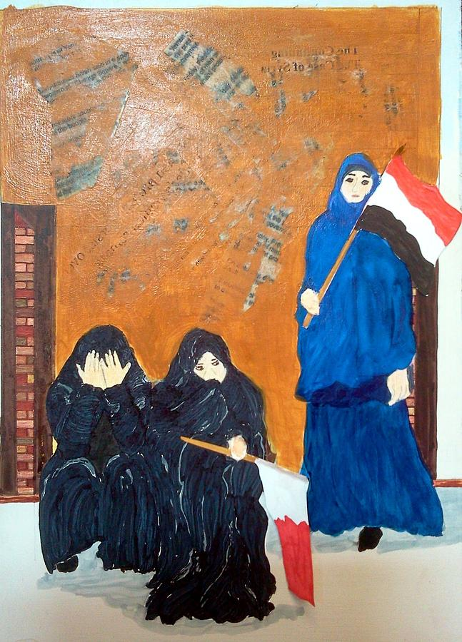 Political Painting - Bahraini Women by Andrea Friedell